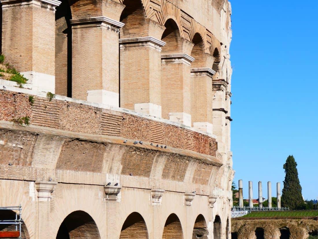architecture, ancien, Rome (Italie), ancienne, tour, voûte, ciel bleu, forteresse