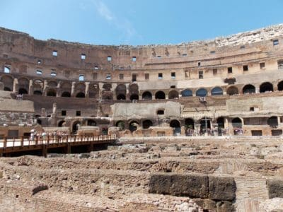amphitheater, Rome, Italy, architecture, theater, ancient