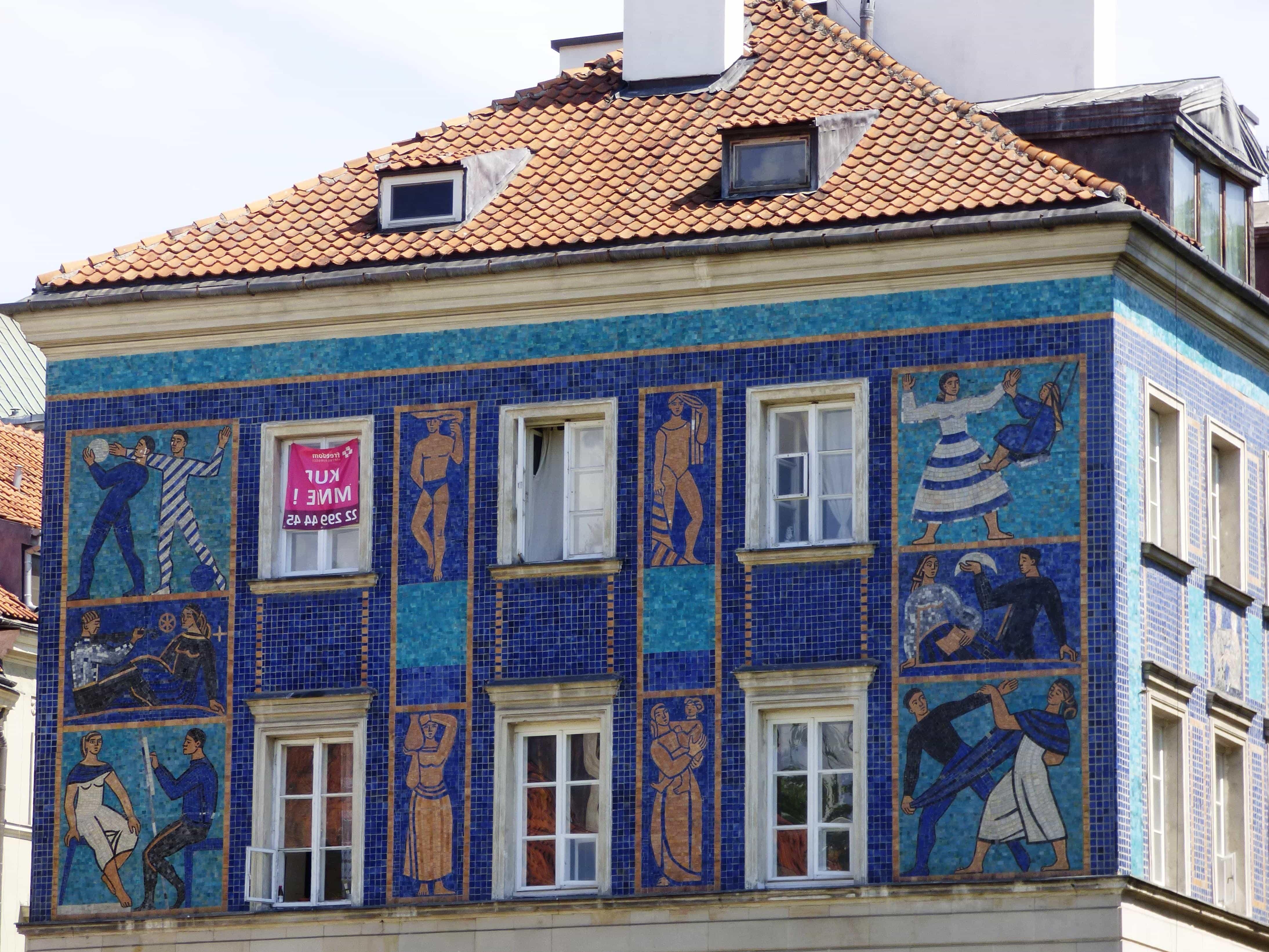 Architektur, Urban, Mosaik, Kunst, Haus, Dach, Fassade, Fenster,