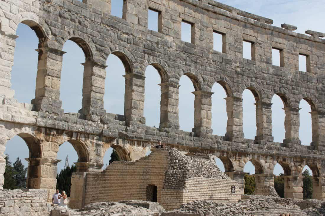 Amphitheater, Kolosseum, antike, Rom, Italien, mittelalterliche, Archäologie, Architektur