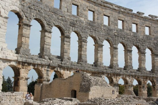 amphitheater, Colosseum, ancient, Rome, Italy, medieval, archaeology, architecture