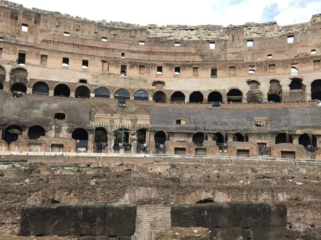 Architektur, Amphitheater, Rom, Italien, mittelalterliche, alte, alte, Kolosseum