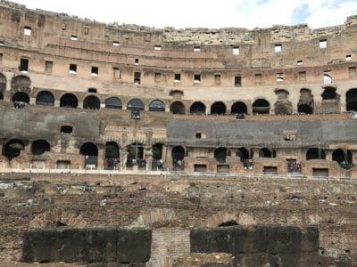 Architektura, amfiteatr, Koloseum, Rzym, Włochy, średniowieczny, starożytnych, stary