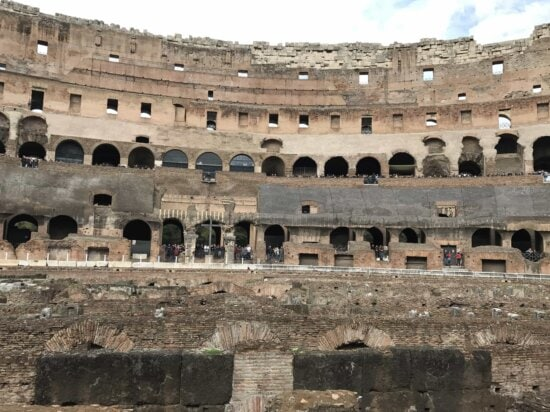 architecture, amphitheater, Rome, Italy, medieval, ancient, old, Colosseum