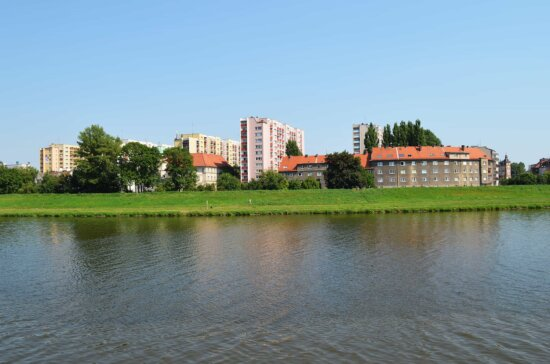 river, water, architecture, tree, city, urban, lake, waterfront