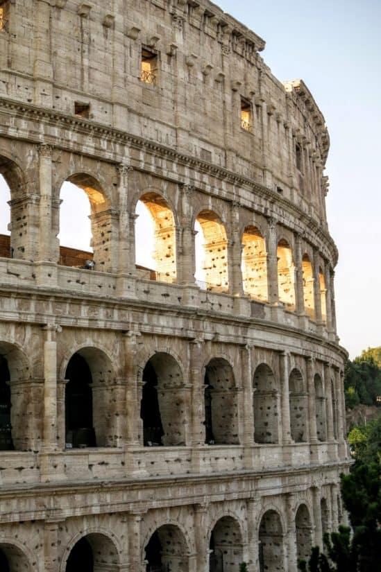 Architektur, Amphitheater, Rom, Italien, mittelalterliche, Kolosseum, alte, alte