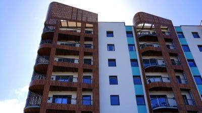 건축, 건물, 외관, 도시, 마을, 현대, 창, 아파트, 외관, 시