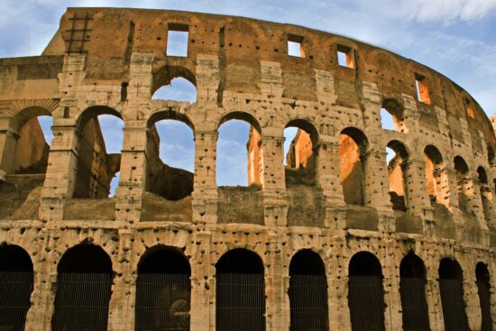Colosseum, ancient, architecture, amphitheater, Rome, Italy, medieval, landmark