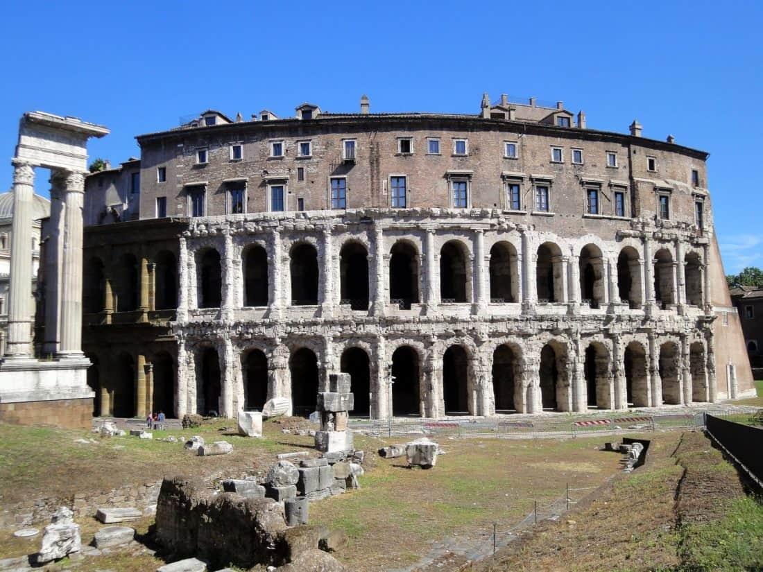 Architektur, antike, Archäologie, alte, Rom, Italien, mittelalterliche, Theater, Palast