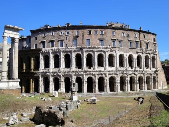 architecture, ancient, archaeology, old, Rome, Italy, medieval, theater, palace