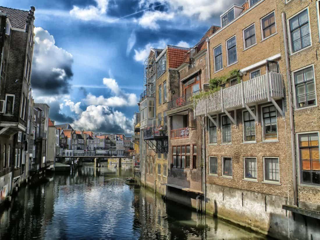 건축, 운하, 푸른 하늘, 다운 타운, 물, 도시, 거리, 물가