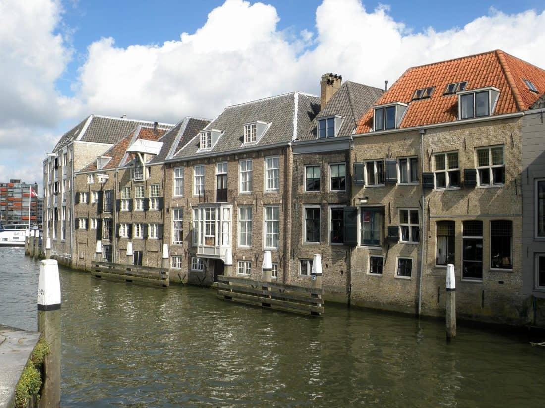 mimari, su, şehir merkezinde, house, kanal, ev, mavi gökyüzü