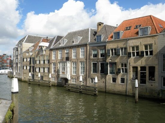architecture, water, downtown, house, canal, home, blue sky