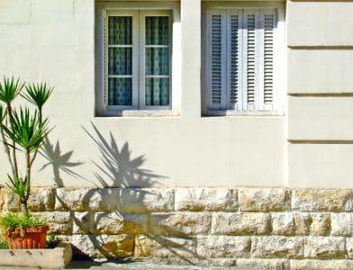 jendela, fasad, eksterior, residence, perkotaan, rumah, arsitektur, pintu