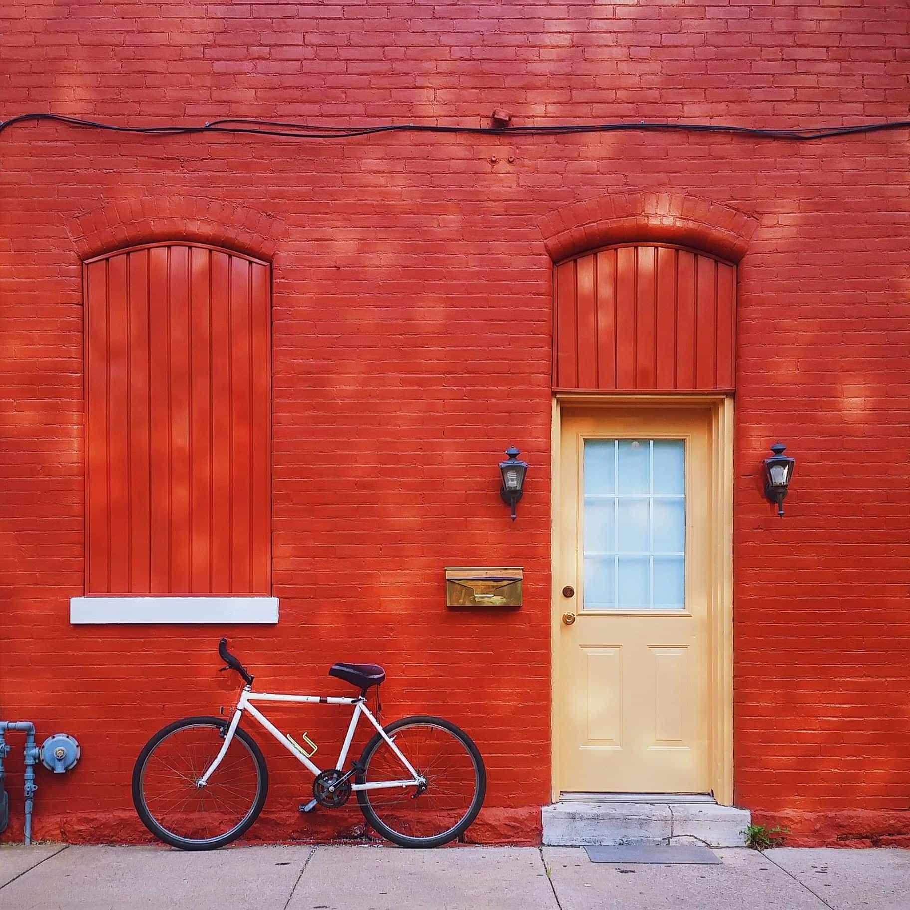 Imagen gratis: puerta urbana, bicicleta, fachada, casa, arquitectura ...