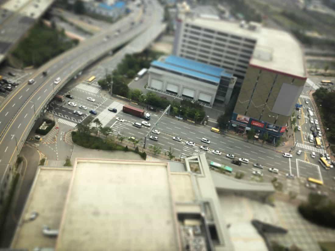 Road, trafik, motorvej, antenne, downtown, bil, street, city, køretøj, motortrafikvej