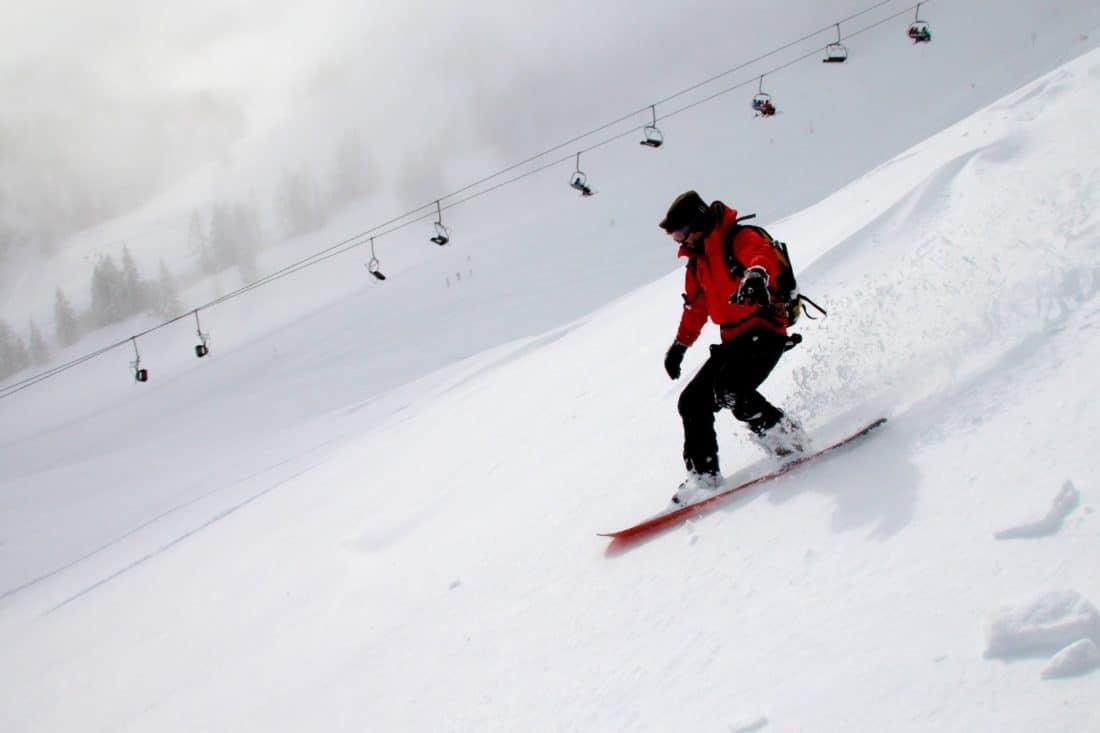 sníh, zima, sport, hill, lyžař, mountain, snowboard, studené, sport