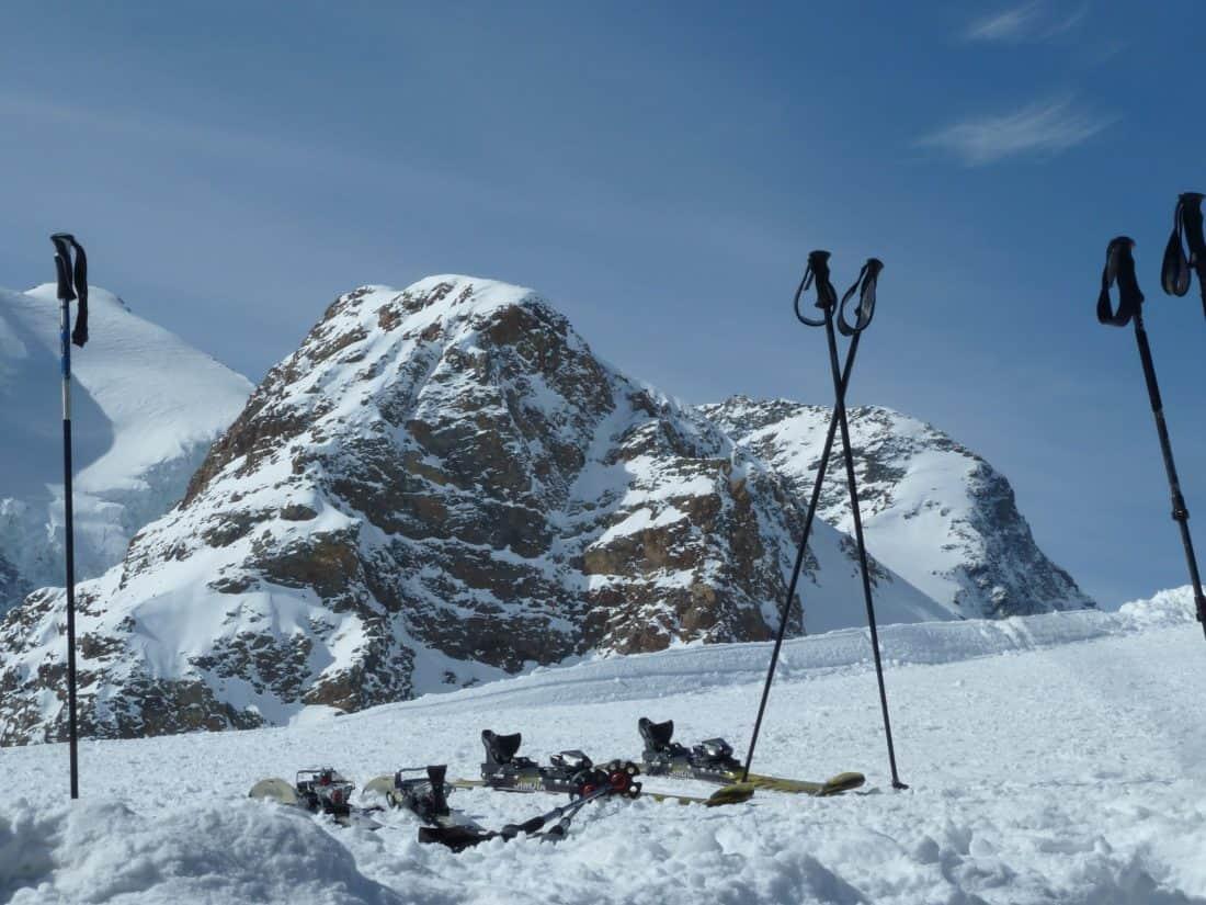snijeg, zima, oprema, planine, hladne, skijaš, sport, avantura