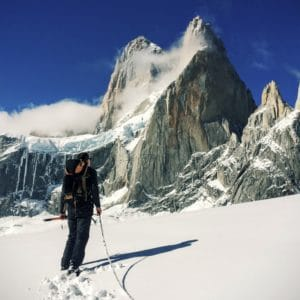 snow, winter, mountain, skier, glacier, sport, climber, cold, climb