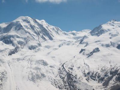 snow, mountain, ascent, mountain peak, altitude, cold, winter, glacier, landscape, sky