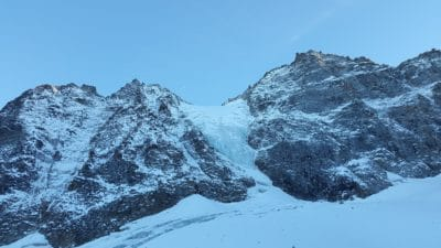 ridge, altitude, snow, mountain, ice, landscape, sky, winter, outdoor