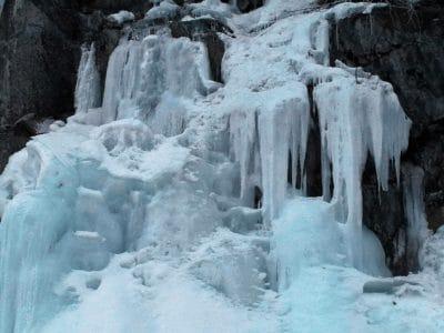LED, voda, sníh, chlad, příroda, zima, zmrazené, vodopád, ledovec