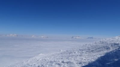 blue sky, ridge, altitude, winter, snow, cold, nature, landscape, sky, ice, mountain