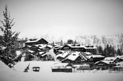 Haus, Hill, Nadelbaum, Baum, Schnee, Winter, outdoor, Himmel