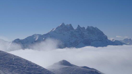 Schnee, Aufstieg, Grat, Höhe, Berg, Landschaft, Gletscher, Eis, Himmel, winter