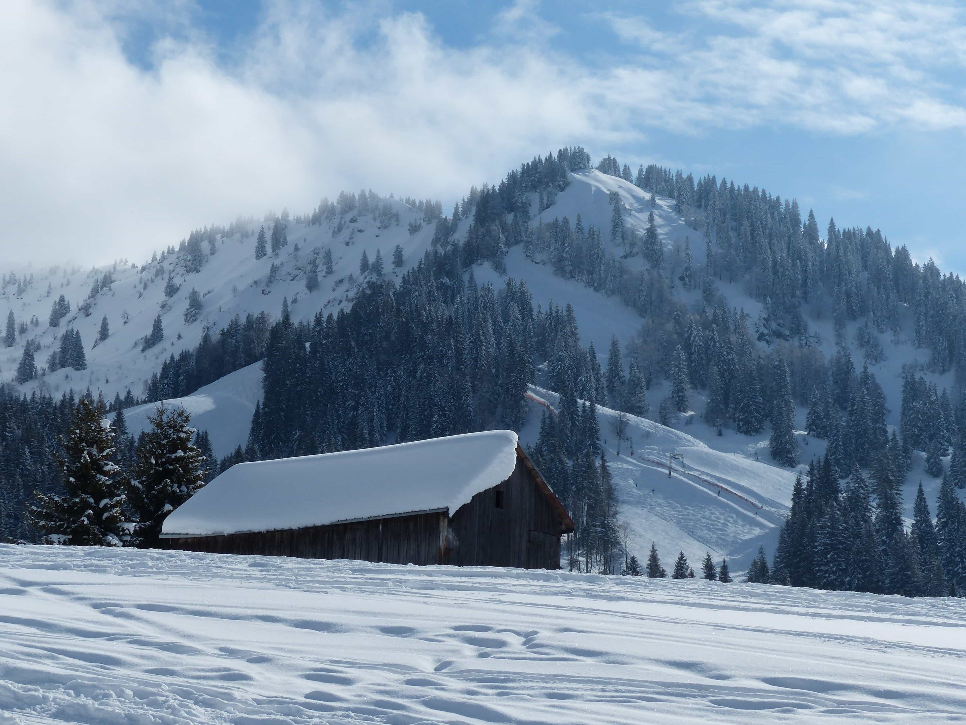 Imagen gratis: nieve, altitud, paisaje, invierno, montaña, frío ...