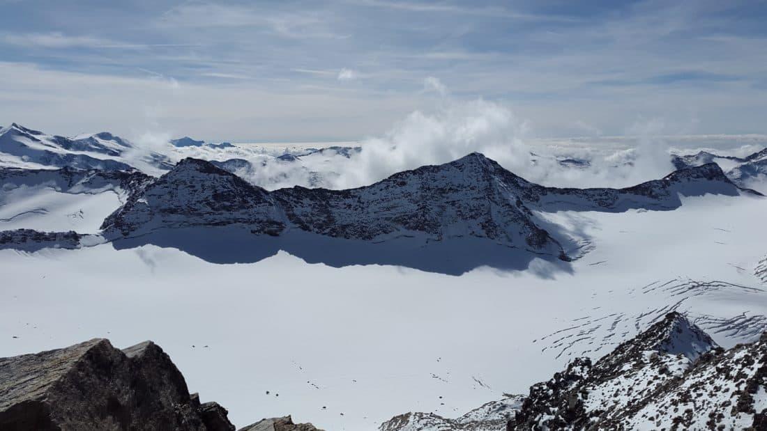 neve, montagna, inverno, ghiaccio, salita, cresta, altitudine, ghiacciaio, paesaggio, cielo