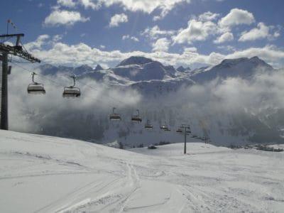sneeuw, winter, panorama, koude, berg, ijs, landschap, bevroren