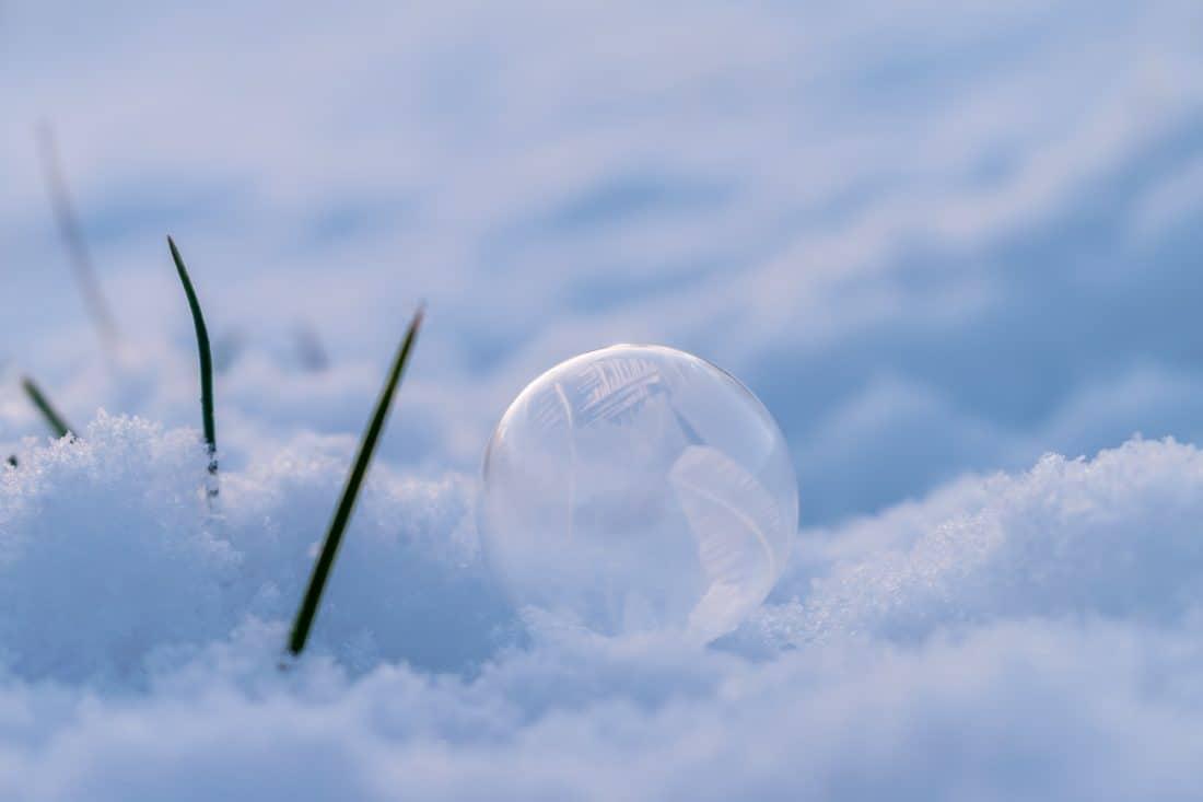 flocon de neige, ciel, nature, macro, détail, paysage, neige