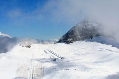 snow, winter, mountain, ascent, ridge, altitude, ice, cold, glacier, landscape