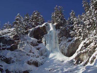 Schnee, Winter, Kälte, Eis, Berg, Landschaft, Hügel, blauer Himmel