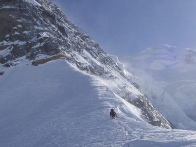 hó, tél, hegyi, jég, hideg, gleccser, szél