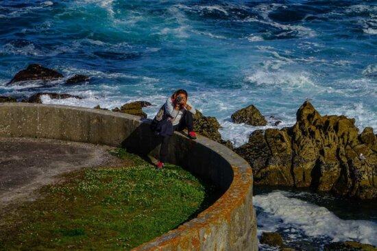 water, sea, ocean, person, beach, coast, shore, coastline, sand