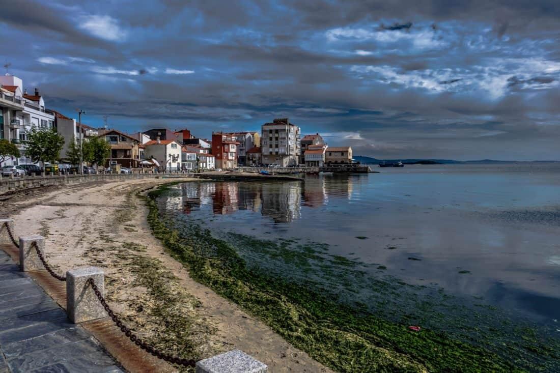 l'eau, architecture, bord de mer, plage, ville, mer, nuage, urbain, extérieur