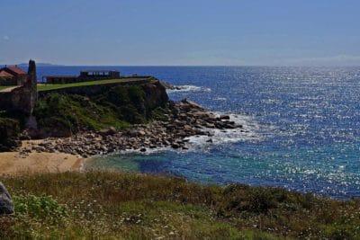 Seashore, maisema, aalto, vesi, meri, beach, ocean, sininen taivas, coast