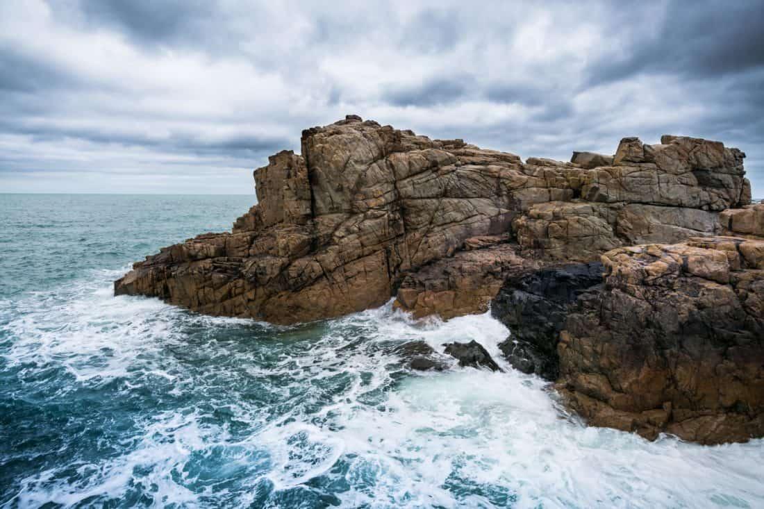 water, seashore, sea, tide, island, landscape, ocean, sky, nature