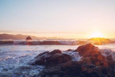 coucher du soleil, l'eau, aube, marée, crépuscule, paysage, océan, mer, plage
