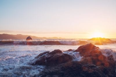 zalazak sunca, vode, zore, plima, sumrak, krajolik, more, more, plaža