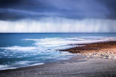 water, sea, beach, cloud, storm, landscape, ocean, shoreline, sand