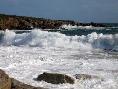 plima, val, vode, oceana, more, plaža, divljinu, more, pjena, val, krajolik
