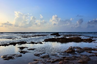 вода, залез, море, облак, слънце, плаж, океан, зората, бреговата линия, бряг