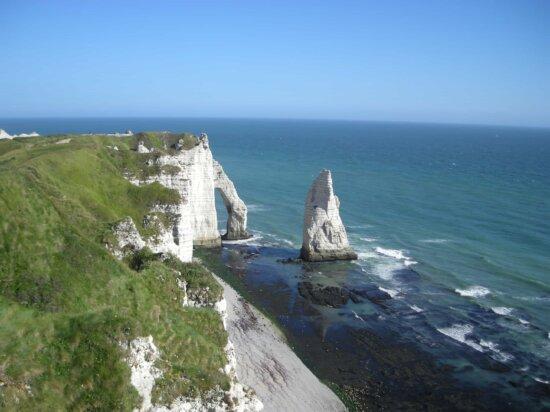 water, seashore, sea, island, landscape, ocean, blue sky, beach, coast