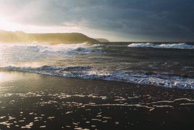 water, sea, beach, island, outdoor, ocean, sunset, landscape, seashore
