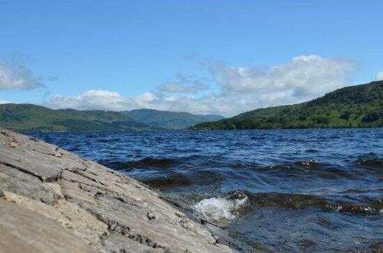 landscape, water, cloud, tide, mountain, nature, blue sky, seashore, sea