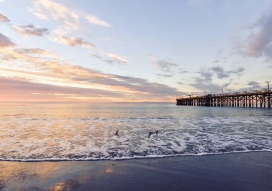 water, sea, pier, beach, ocean, sky, sunset, tide, sky, ocean, outdoor
