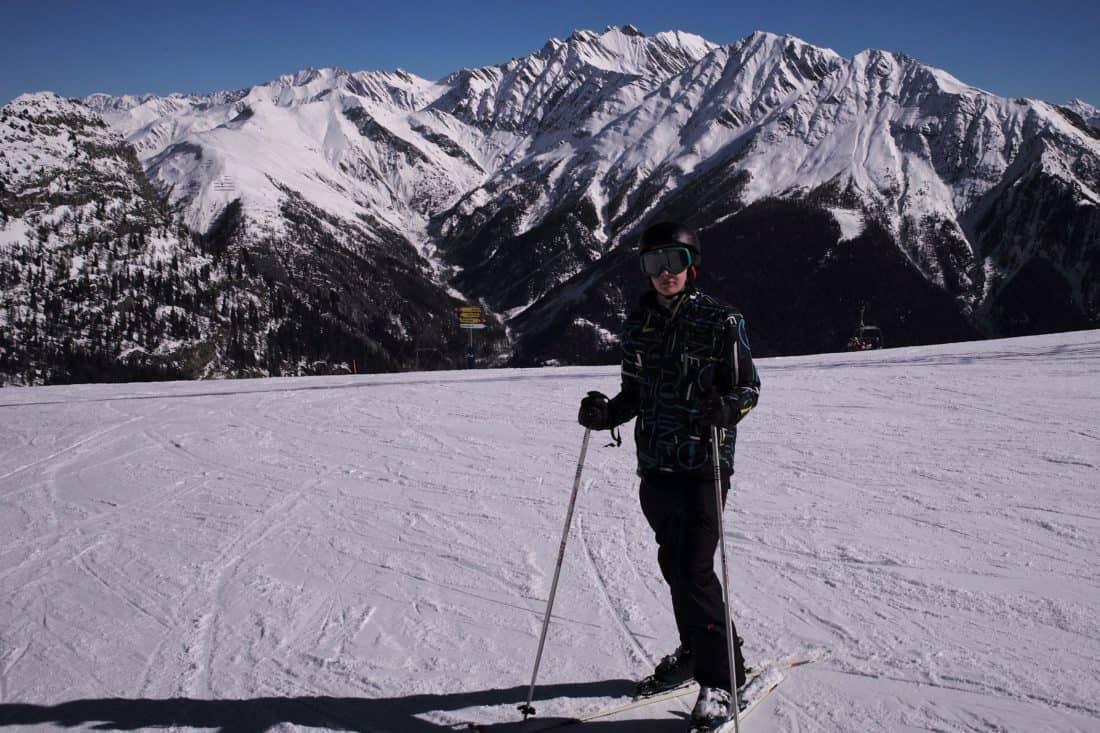 sníh, lyžování, hory, zima, LED, studené, lyžař, sportovní, venkovní